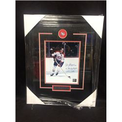 "JEAN BELIVEAU AUTOGRAPHED 16"" X 20"" FRAMED PHOTO INSCRIBED ""10 STANLEY CUPS. HOF 1972) UNIVERSAL"