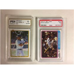 1990 BOWMAN #481 KEN GRIFFEY JR (10 GEM MINT) & 1974 OPC #575 STEVE GARVEY (NM 7)