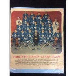1958-59 TORONTO MAPLE LEAFS TEAM PRINT