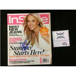 CARRIE UNDERWOOD AUTOGRAPHED INSIDE MAGAZINE  W/ COA