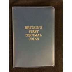 BRITAIN'S FIRST DECIMAL COINS SET