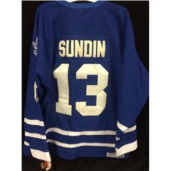 MATS SUNDIN TORONTO MAPLE LEAFS HOCKEY JERSEY (SIZE LARGE)