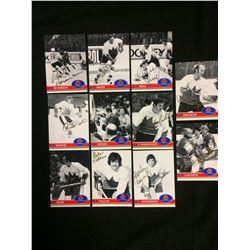 1972 HOCKEY CANADA AUTOGRAPHED CARDS LOT