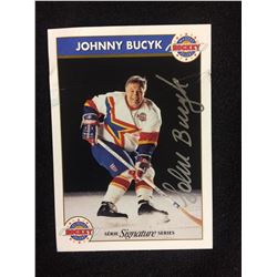 JOHNNY BUCYK AUTOGRAPHED ZELLERS SIGNATURE SERIES HOCKEY CARD