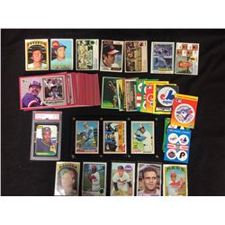 BASEBALL CARDS & STICKERS LOT