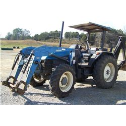 NEW HOLLAND 5635 TRACTOR W/ WOODS 1020 LOADER, CANOPY, HOURS SHOWING: 2514, S: 001091380 (PALLET FOR