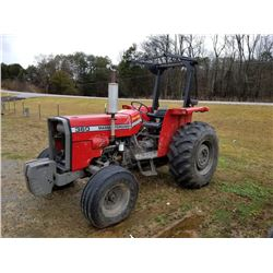 MASSEY FERGUSON 360 TRACTOR W/ FRONT WEIGHTS, HOURS SHOWING: 726, S: 5221V05191