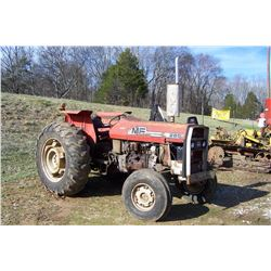 MASSEY FERGUSON 285 TRACTOR, DIESEL, 2WD, HOURS SHOWING: 2234, RUNS/OPERATES BUT DOESN'T STEER, S: 9