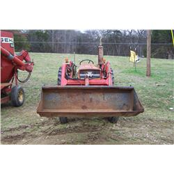 165 MASSEY FERGUSON W/FRONT END LOADER, DIESEL, HOURS SHOWING: 2728, S/N 9AI74097