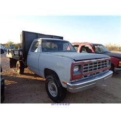 1983 - DODGE PICKUP// SALVAGE TITLE