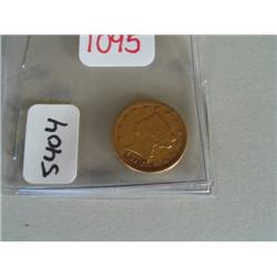 1878 2-1/2 DOLLAR GOLD COIN
