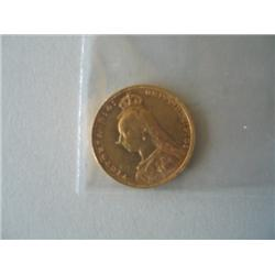1889 GOLD SOVEREIGN