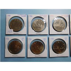 LOT OF 10 CANADA DOLLAR COINS, 1980 x 10