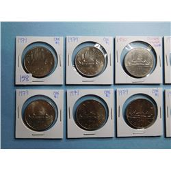 LOT OF 10 CANADA DOLLAR COINS 1979 x 10