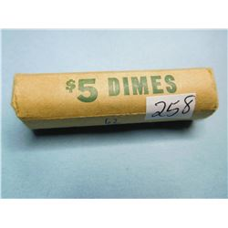 1962 TOP DATE DIME UNSEARCHED ROLL