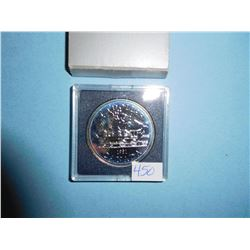 1981 CANADA PROOF SILVER DOLLAR TRAIN COIN