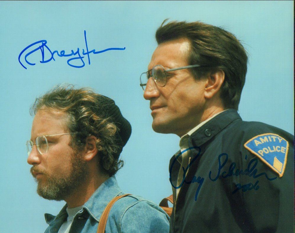 Richard Dreyfuss Roy Scheider Jaws Signed 8x10 Photo