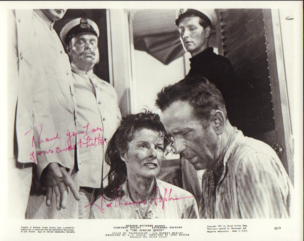 Image 1 katharine hepburn the african queen signed 8x10 photo