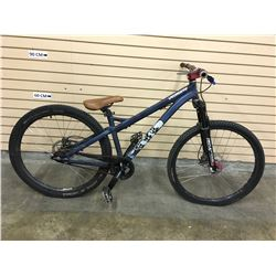 BLUE SPECIALIZED P.TWO FRONT SUSPENSION DIRT JUMPING BIKE WITH FRONT AND REAR HYDRAULIC DISK BRAKES