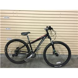 BLACK ROCKY MOUNTAIN EDGE FRONT SUSPENSION MOUNTAIN BIKE WITH FRONT AND REAR HYDRAULIC DISK BRAKES