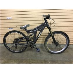 GREY BRODIE LIBIDO FULL SUSPENSION DOWNHILL MOUNTAIN BIKE WITH FRONT AND REAR HYDRAULIC DISK