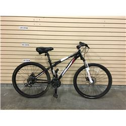BLACK JAMIS TRAIL X2 FRONT SUSPENSION MOUNTAIN BIKE WITH FRONT AND REAR DISK BRAKES