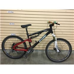 BLACK BRODIE RECLUSE FULL SUSPENSION MOUNTAIN BIKE WITH FRONT AND REAR HYDRAULIC DISK BRAKES