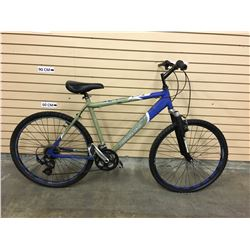 GREEN AND BLUE NORCO FRONT SUSPENSION MOUNTAIN BIKE