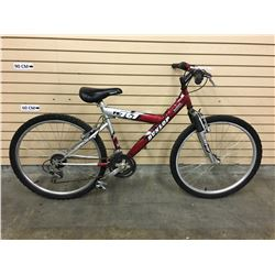 RED AND GREY DUNLOP FS767 FRONT SUSPENSION HYBRID MOUNTAIN BIKE