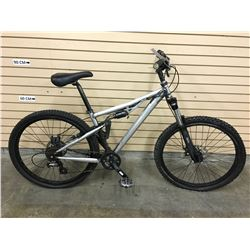 GARY FISHER FULL SUSPENSION MOUNTAIN BIKE WITH FRONT AND REAR DISK BRAKES, SANDED DOWN
