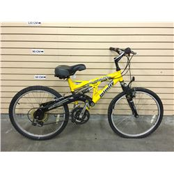 YELLOW INFINITY GRAVITY KID'S FULL SUSPENSION MOUNTAIN BIKE