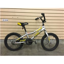 SILVER RALEIGH ROWDY KID'S BMX BIKE