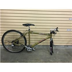 BROWN CCM MATRIX FRONT SUSPENSION MOUNTAIN BIKE, MISSING FRONT WHEEL