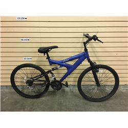 BLUE NO NAME FULL SUSPENSION KID'S MOUNTAIN BIKE, NO BRAKES