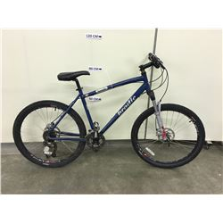 BLUE BRODIE BANDIT FRONT SUSPENSION MOUNTAIN BIKE WITH HYDRAULIC FRONT AND REAR DISK BRAKES