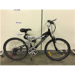 BLACK AND GREY INFINITY VIPER FULL SUSPENSION MOUNTAIN BIKE