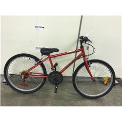 RED RALEIGH TRACKER MOUNTAIN BIKE