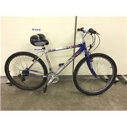 GREY AND BLUE KAWASAKI FLUX MOUNTAIN BIKE