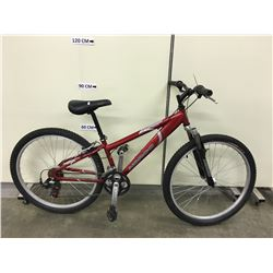 RED NORCO PINNACLE FRONT SUSPENSION MOUNTAIN BIKE