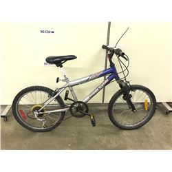 BLUE AND GREY SUPERCYCLE IMPULSE - SE KIDS FRONT SUSPENSION MOUNTAIN BIKE