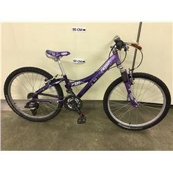 PURPLE TREK MT220 KIDS FRONT SUSPENSION MOUNTAIN BIKE