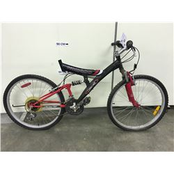 BLACK CHEROKEE KOMODO FULL SUSPENSION MOUNTAIN BIKE