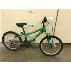 GREEN NORCO ELIMINATOR KIDS FRONT SUSPENSION MOUNTAIN BIKE