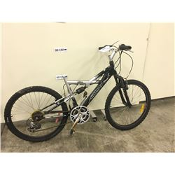 BLACK AND GREY INFINITY VIPER FULL SUSPENSION KIDS MOUNTAIN BIKE