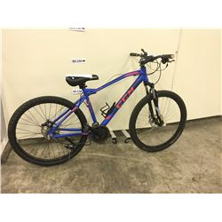 BLUE CCM ASPEN FRONT SUSPENSION MOUNTAIN BIKE WITH HYDRAULIC DISK BRAKES