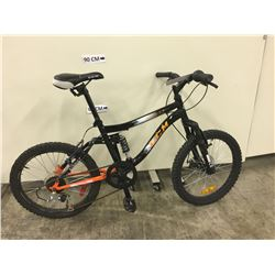 BLACK CCM ASSAULT FULL SUSPENSION KIDS MOUNTAIN BIKE WITH FRONT DISK BRAKES