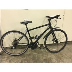 BLACK NORCO INDIE 18'' HYBRID CRUISER BIKE WITH FRONT AND REAR DISK BRAKES