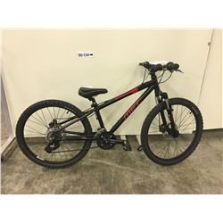 BLACK MEC ACE FRONT SUSPENSION MOUNTAIN BIKE WITH FRONT AND REAR HYDRAULIC DISK BRAKES