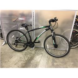 BLACK DIADORA ORMA FRONT SUSPENSION MOUNTAIN BIKE WITH FRONT AND REAR DISK BRAKES