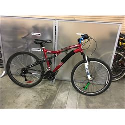 RED CCM VANDAL FULL SUSPENSION MOUNTAIN
